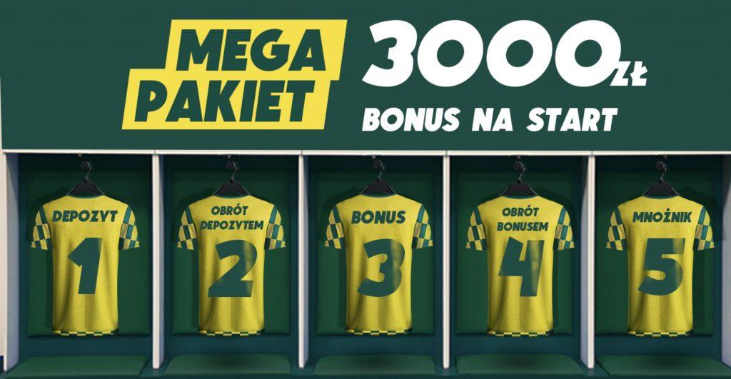 3050 zł - najwyższy bonus powitalny w Polsce. Bukmacher Betfan online!